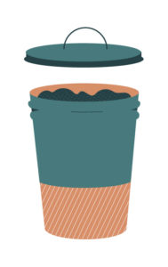 poubelle 30% des déchets sont compostables